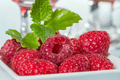 Fresh raspberry. In a plate Stock Photography