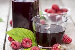 Fresh Raspberry Sirup Stock Photos
