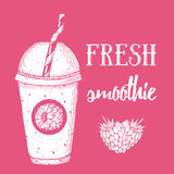 Fresh raspberry smoothie Royalty Free Stock Photography