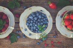 Fresh raspberry, strawberry and blueberry Stock Image
