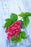 Fresh raspberry. On a table Royalty Free Stock Photo