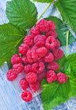 Fresh raspberry. On a table Stock Photos