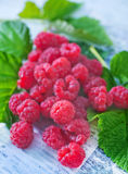 Fresh raspberry. On a table Royalty Free Stock Photography