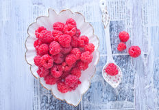 Fresh raspberry. On a table Royalty Free Stock Photos