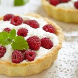 Fresh Raspberry Tart. See my other works in portfolio Stock Images