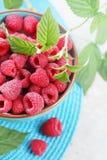 Fresh raspberry,  top view Stock Image