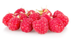 Fresh raspberry on white background. Fresh redraspberry on white background macro Stock Image