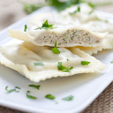 Fresh ravioli Stock Image