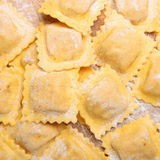 Fresh Ravioli. Fresh homemade ravioli with flour Stock Photography