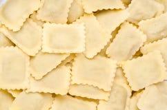 Fresh Ravioli Pasta. Home made italian pasta, ravioli Royalty Free Stock Photography