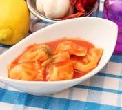 Fresh Raviolis Stock Image