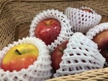 Fresh raw apple. Texture pattern background Royalty Free Stock Photography