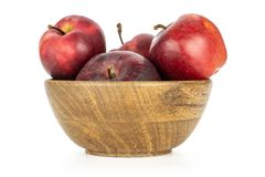 Fresh raw apple red delicious isolated on white royalty free stock photography