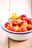 Fresh raw apricots. In a bowl Royalty Free Stock Image