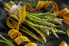 Fresh raw asparagus spears royalty free stock photo