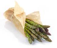Fresh raw asparagus. On a white background Stock Images