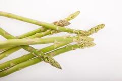 Fresh raw asparagus. On white background Stock Photo