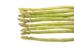 Fresh raw asparagus. On white background Royalty Free Stock Photo
