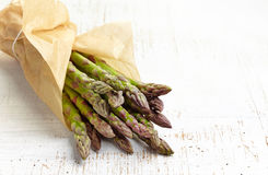Fresh raw asparagus Stock Images