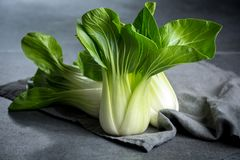 Fresh raw baby Bok choy or pak choi Chinese cabbage. Fresh raw green baby Bok choy or pak choi Chinese cabbage Royalty Free Stock Photos