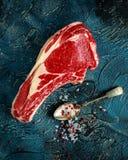 Fresh Raw Beef bone rib roughly choppid.  Stock Photo