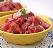 Fresh raw beef Stock Image