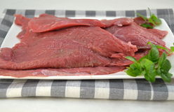 Fresh raw beef fillet Royalty Free Stock Photography