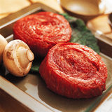 Fresh raw beef on kitchen table. Drum scanned Royalty Free Stock Images