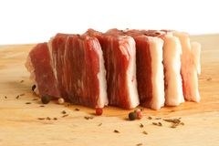 Fresh raw beef meat. With spices Stock Image