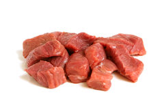 Fresh raw beef meat. On a white background Stock Photo