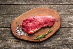Fresh raw beef meat. Fresh raw beef meat on cutting board Stock Photos