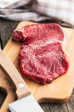 Fresh raw beef meat. Fresh raw beef meat on cutting board Royalty Free Stock Photography