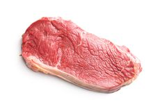 Fresh raw beef meat. Fresh raw beef meat isolated on white background Royalty Free Stock Photos