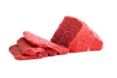 Fresh Raw Beef Meat. Isolatet on White Background.  Stock Photo