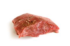 Fresh raw beef meat with spices Stock Photography