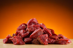 Fresh raw beef. Fresh raw meat and vegetables Stock Photos