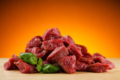 Fresh raw beef. Fresh raw meat and vegetables Stock Image