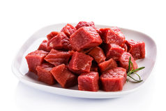 Fresh raw beef. Fresh raw meat and vegetables Stock Photo
