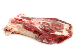 Fresh raw beef meat. On white background Stock Photos