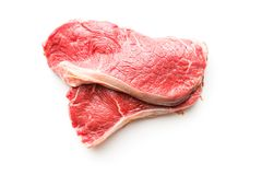Fresh raw beef meat. Fresh raw beef meat  on white background Stock Photography