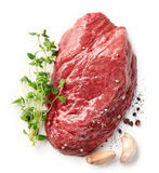 Fresh raw beef steak Royalty Free Stock Photos