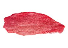 Fresh raw beef steak isolated on white. Background Stock Photography
