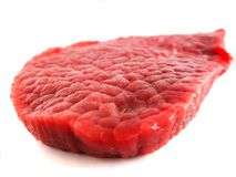 Fresh raw beef steak. Isolated on a white background Royalty Free Stock Photos