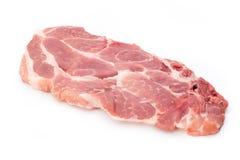 Fresh raw beef steak isolated on white background, top view. Fresh raw beef steak isolated on white background, top view Stock Photo