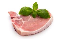 Fresh raw beef steak isolated on white background, top view. Fresh raw beef steak isolated on white background, top view Royalty Free Stock Photo