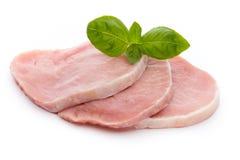 Fresh raw beef steak isolated on white background, top view. Fresh raw beef steak isolated on white background, top view Stock Image