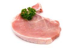 Fresh raw beef steak isolated on white background, top view. Fresh raw beef steak isolated on white background, top view Stock Images