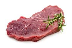 Fresh raw beef steak isolated on white. Fresh raw bio  beef steak isolated on white background Stock Photos