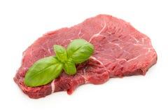 Fresh raw beef steak isolated on white. Fresh raw bio  beef steak isolated on white background Royalty Free Stock Images