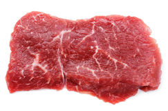 Fresh raw beef steak isolated on white Royalty Free Stock Photo